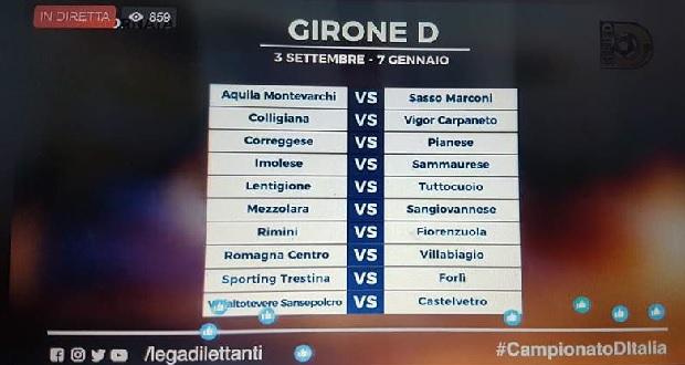 Serie D Girone D Calendario.Serie D Girone D Il Calendario Della Stagione 2017 2018